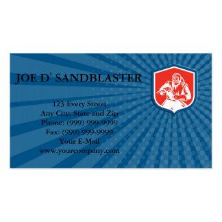 Escudo de la manguera del chorreo de arena de la tarjetas de visita
