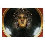 Escudo de la medusa tarjeta de felicitación