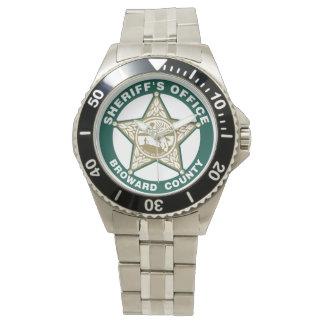 ESCUDO de la oficina de los sheriffs de Broward Relojes De Pulsera