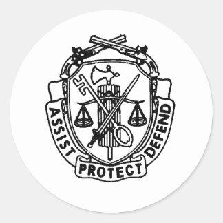 escudo de la P.M. Pegatina Redonda