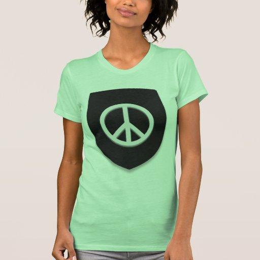 Escudo de la paz camisetas