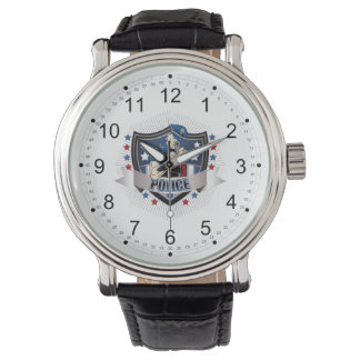 Escudo de la policía relojes