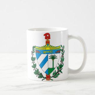 Escudo de la Republica de Cuba Taza Básica Blanca