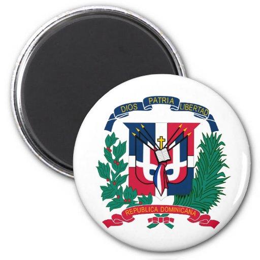 Escudo de la República Dominicana Imán Redondo 5 Cm