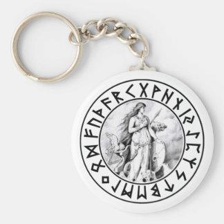 escudo de la runa de Freya del llavero