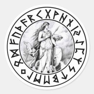 escudo de la runa de Freya del pegatina