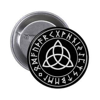 Escudo de la runa de Triquetra Pin Redondo 5 Cm