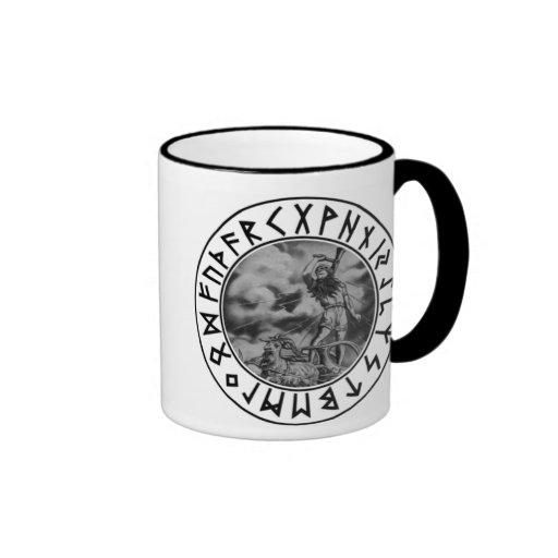 escudo de la runa del Thor de la taza