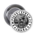 escudo de la runa del Thor del botón Pin