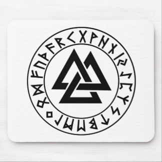 escudo de la runa del Tri Triángulo del hor del mo Alfombrilla De Ratón