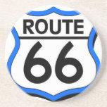 Escudo de la ruta 66 con el azul y la sombra posavasos diseño