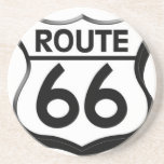 escudo de la ruta 66 con la sombra posavasos cerveza