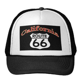 Escudo de la ruta 66 de California Gorras