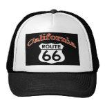 Escudo de la ruta 66 de California Gorros Bordados