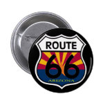 Escudo de la ruta 66 de la bandera de Arizona Pin Redondo 5 Cm