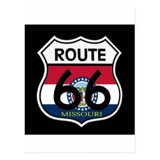 Escudo de la ruta 66 de la bandera de Missouri Postales