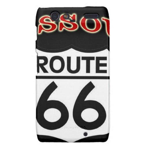 Escudo de la ruta 66 de Missouri Droid RAZR Carcasa