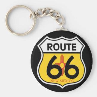 Escudo de la ruta 66 de New México Llavero