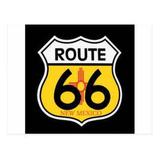 Escudo de la ruta 66 de New México Tarjeta Postal
