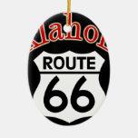 Escudo de la ruta 66 de Oklahoma Ornamentos De Reyes Magos
