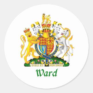 Escudo de la sala de Gran Bretaña Pegatina Redonda