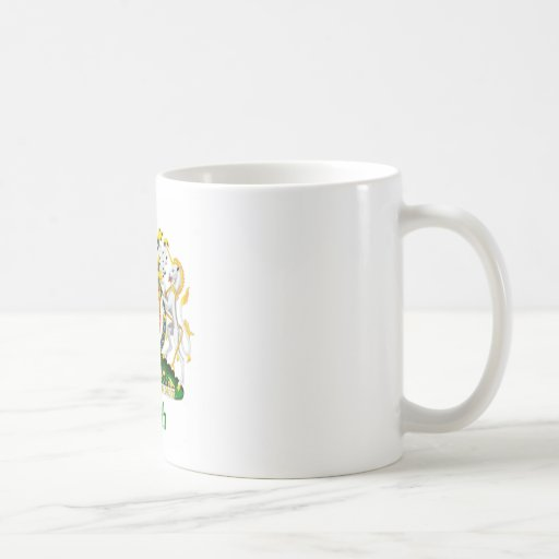 Escudo de la sanguijuela de Gran Bretaña Taza De Café