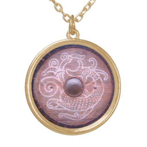 Escudo de la serpiente de Viking Pendiente