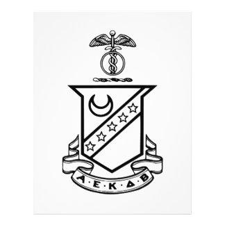 Escudo de la sigma de Kappa - blanco y negro Tarjetas Informativas