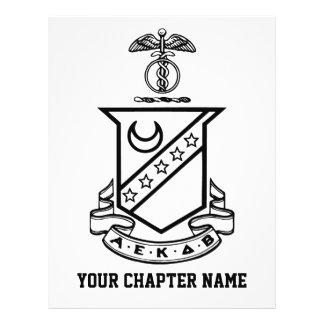 Escudo de la sigma de Kappa - blanco y negro Tarjetones