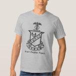 Escudo de la sigma de Kappa - blanco y negro Playeras