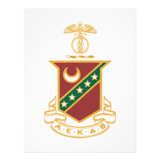 Escudo de la sigma de Kappa Flyer Personalizado