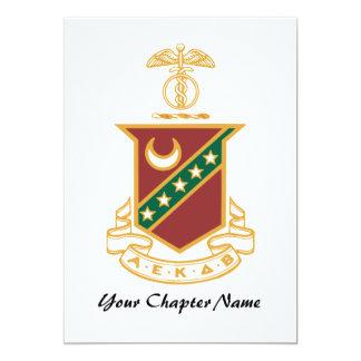 Escudo de la sigma de Kappa Invitación 12,7 X 17,8 Cm