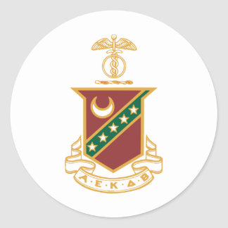 Escudo de la sigma de Kappa Pegatina Redonda