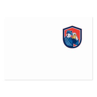 Escudo de la taza del bebedor de cerveza del tarjeta de visita