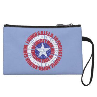 Escudo de la tipografía de capitán América alias