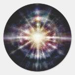 Escudo de la verdad pegatina redonda