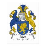 Escudo de lámina de la familia postales