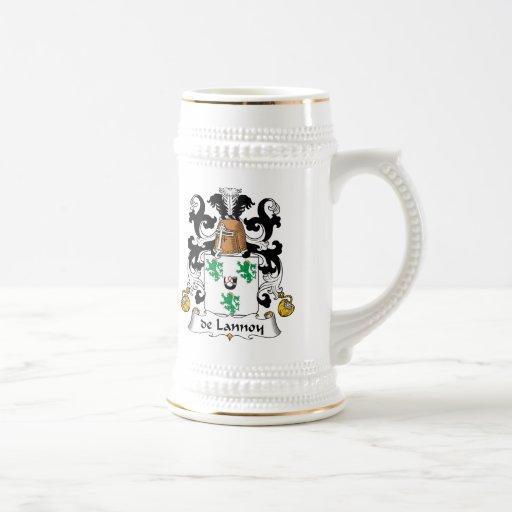 escudo de Lannoy Family Tazas De Café
