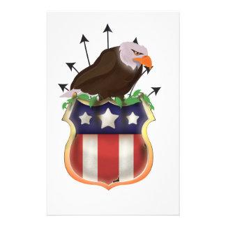 Escudo de las barras y estrellas de los E.E.U.U. Papeleria Personalizada