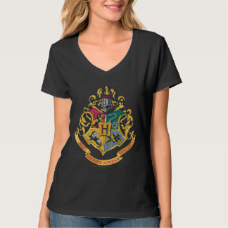 Escudo de las casas de Hogwarts cuatro Playera