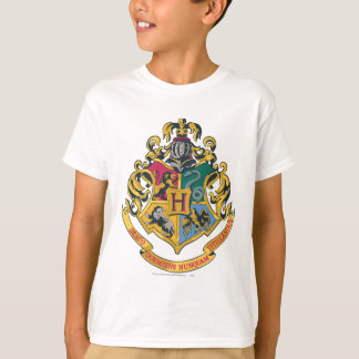 Escudo de las casas de Hogwarts cuatro Poleras