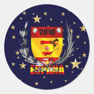 Escudo de las estrellas de fútbol de España Pegatina Redonda