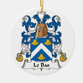 Escudo de Le Bas Family Adornos