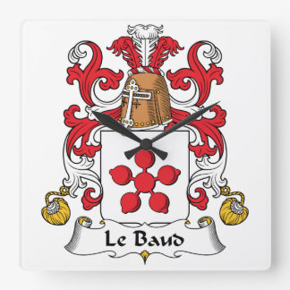 Escudo de Le Baud Family Reloj Cuadrado