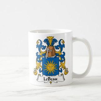 Escudo de Le Beau Family Tazas De Café