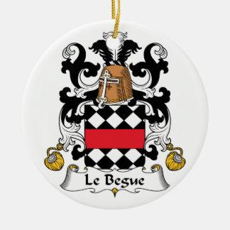 Escudo de Le Begue Family Adornos De Navidad
