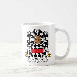 Escudo de Le Begue Family Taza De Café