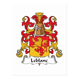 Escudo de Le Blanc Family Tarjetas Postales
