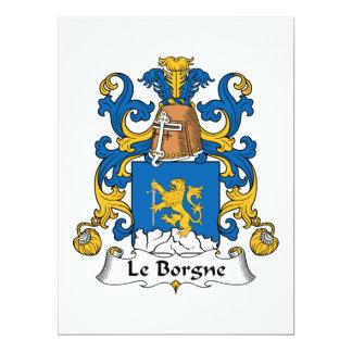 Escudo de Le Borgne Family Comunicados Personalizados