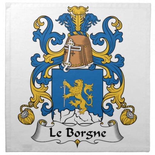 Escudo de Le Borgne Family Servilletas